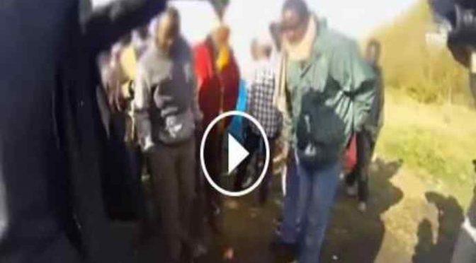 Porta ravioli ai profughi: loro li gettano via schifati – VIDEO