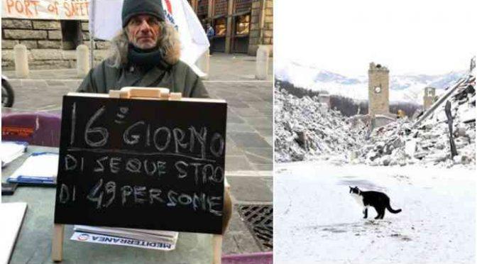 Buonisti col culo al gelo in solidarietà con Amatrice? No, con clandestini