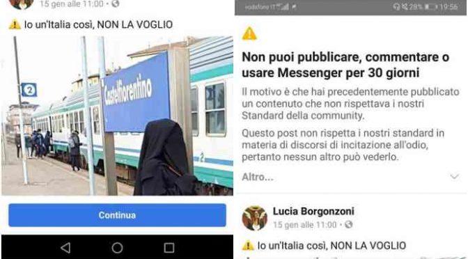 Leghista bloccata da facebook per foto contro burqa!
