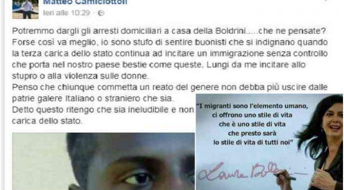 Sindaco condannato a dare 20mila euro a Boldrini: per avere detto quello che tutti gli italiani pensano