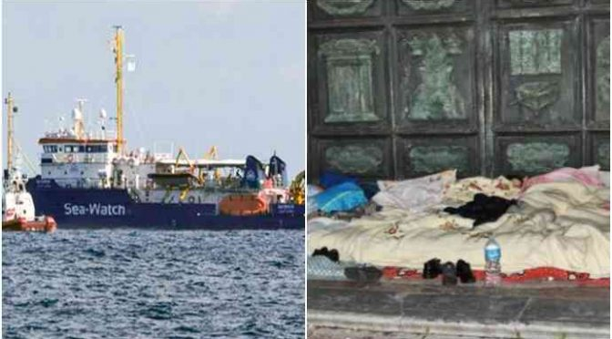 Famiglie italiane respinte, Diocesi Catania preferisce i clandestini SeaWatch