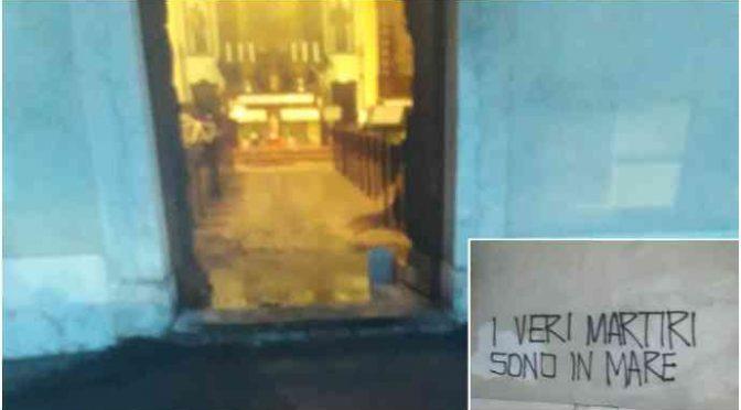 Rovereto, sinistri incendiano chiesa per solidarietà ai clandestini
