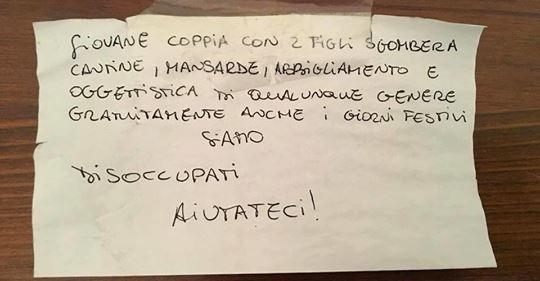 Giunta PD cerca lavoro ai profughi, coppia italiana disperata – FOTO