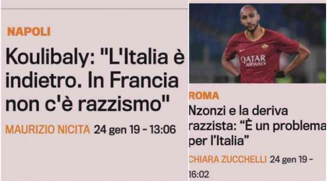 Finti francesi contro l'Italia: paese razzista