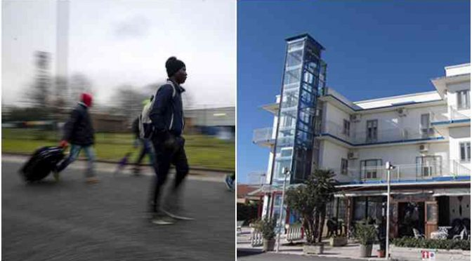 'Profughi' di Castelnuovo 'deportati' in hotel lungomare – FOTO