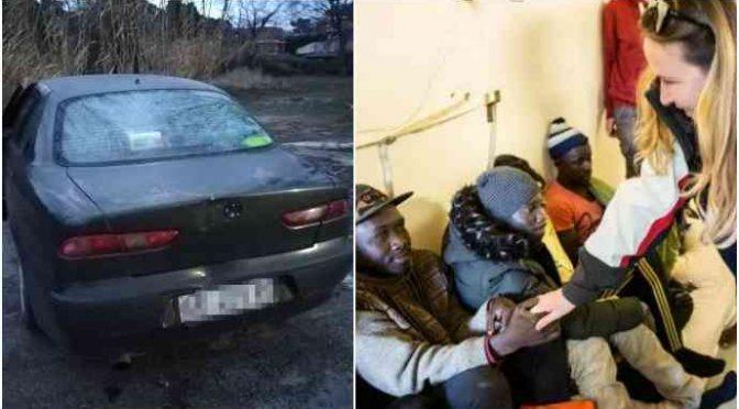 Famiglia italiana al gelo in auto: deputati visitano clandestini