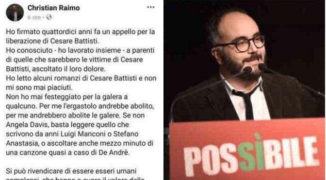 Sinistra difende Battisti, post choc del politico
