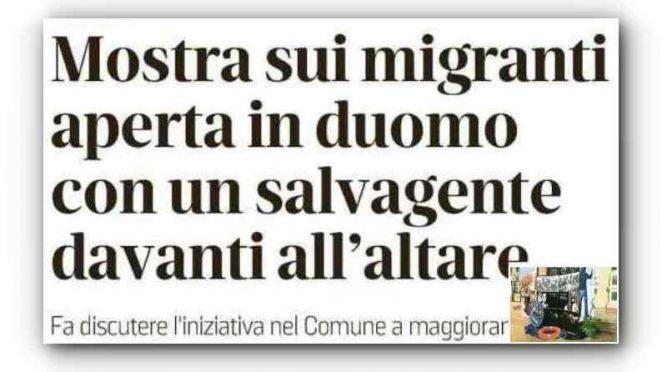 Prete anti-Salvini sostituisce Gesù con Salvagente
