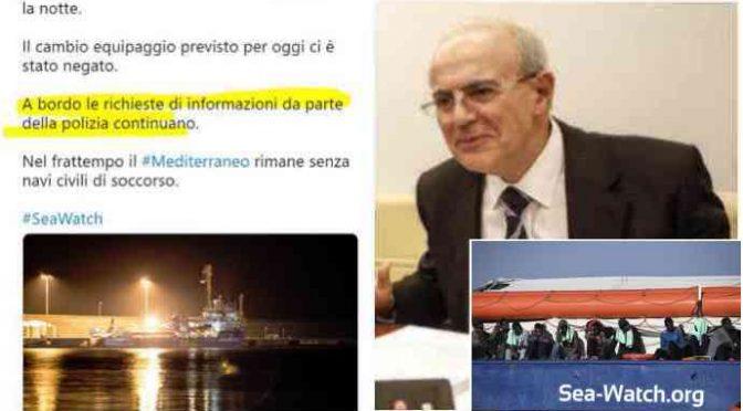 SeaWatch: nave bloccata a Catania, negata partenza, Polizia a bordo