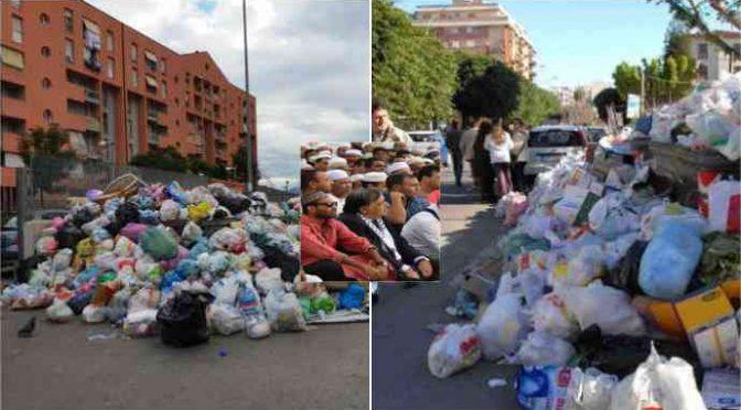 """Palermo si rivolta a Orlando: """"Soffochiamo tra i rifiuti e tu pensi ai clandestini"""""""