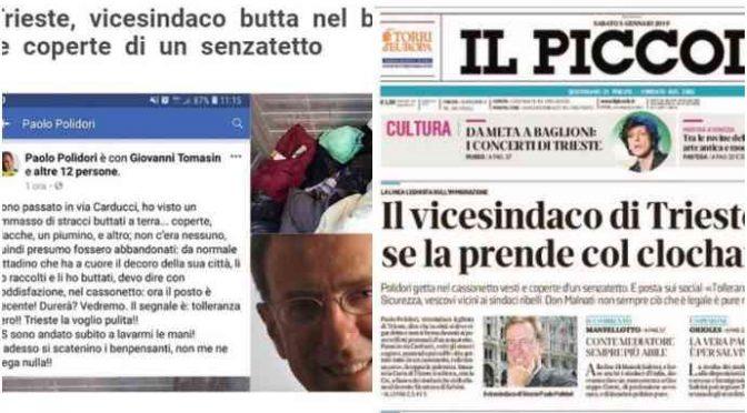 Trieste: giornale PD contro il leghista che ripulisce le strade: buonisti scatenati