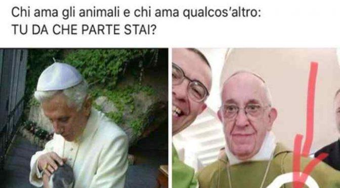 """""""Meglio Ratzinger che amava i gatti di Bergoglio"""""""