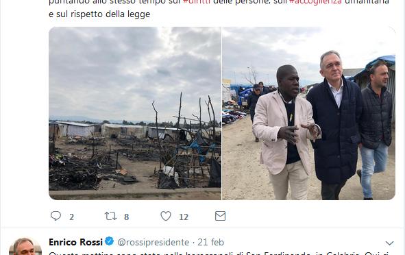 In Toscana 200mila poveri, governato PD va dai clandestini in Calabria
