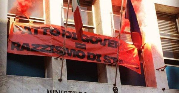Decreto Salvini, centri sociali occupano sede milanese del ministero