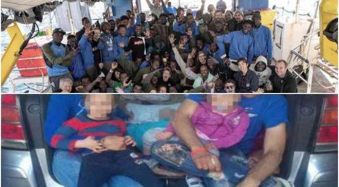 Famiglia con 2 bimbi dorme in auto dove ha sbarcato Sea Watch