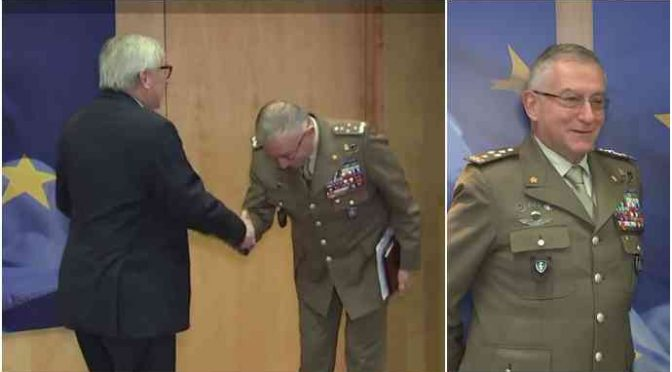 Generale Graziano si inchina a Juncker, è rivolta tra i militari italiani