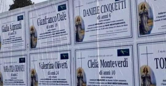 Migranti: finti annunci funebri di bambini a Brescia