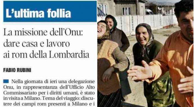 """Arrivano gli ispettori dell'Onu: """"Date case e lavoro ai Rom"""""""