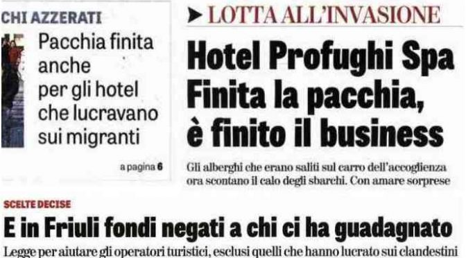 Effetto Salvini: chiusi 2mila centri profughi, 20mila parassiti accoglienza a casa