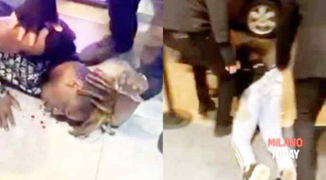 Africano molesta la ragazza sbagliata, massacrato di botte a Milano – VIDEO