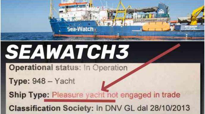 Sea Watch registrata come yacht, ce ne siamo liberati