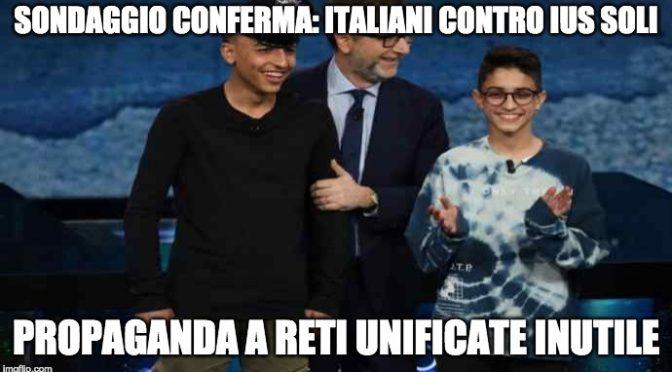 Italiani contro Ius Soli: i media hanno perso ancora