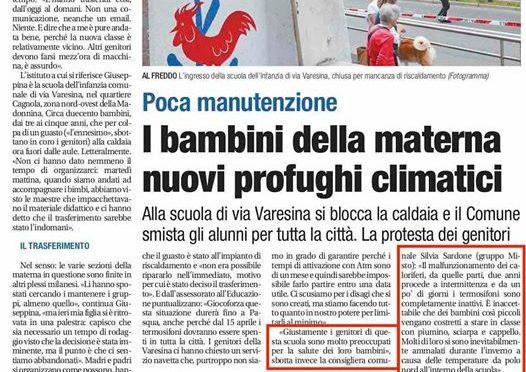 Milano, sindaco marcia coi clandestini e lascia bimbi al freddo