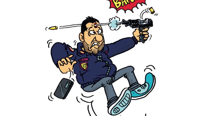 Vauro e la vignetta suicida su Salvini