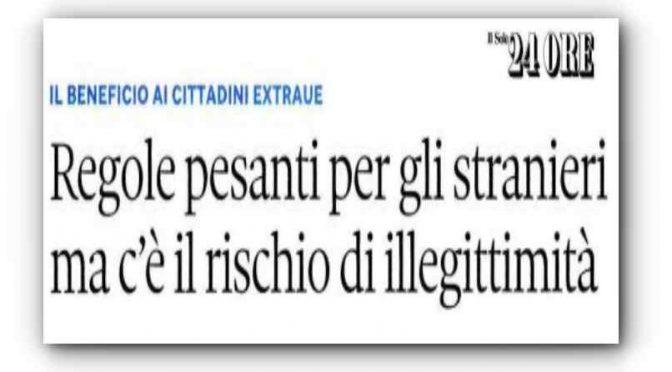 Ecco perché il Reddito di Cittadinanza finirà agli italiani