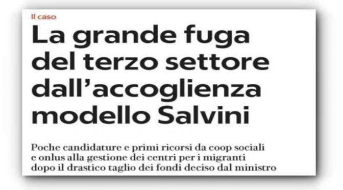 Coop cacciano i profughi dopo i tagli di Salvini