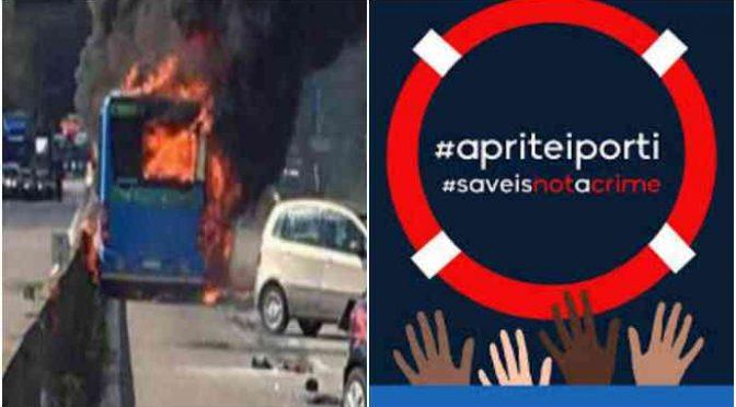 Brescia, immigrati speronano bus e rapinano autista