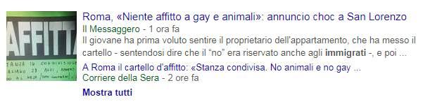 «Non voglio convivere con un gay», media scioccati