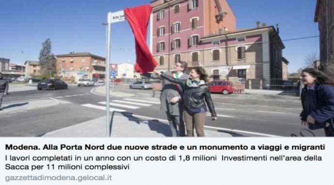 Modena, arriva la statua al migrante: 1,8 milioni di euro