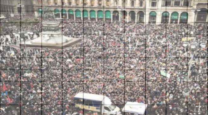 Erano 70mila alla marcia di Milano, lo dice la matematica