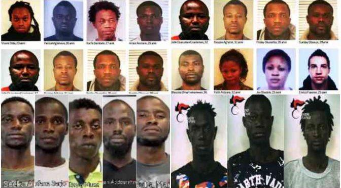Retata di profughi nigeriani, spacciavano ai minori: 8mila euro a settimana, 35 arresti