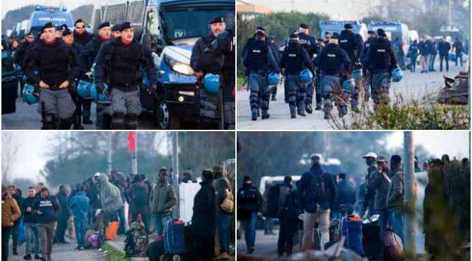 San Ferdinando, sgombero: abusivi trasferiti in hotel per profughi
