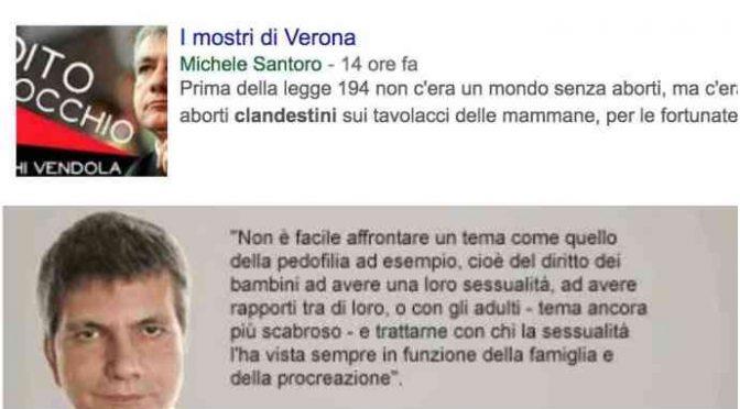 """Vendola contro la famiglia: """"Mostri a Verona"""""""