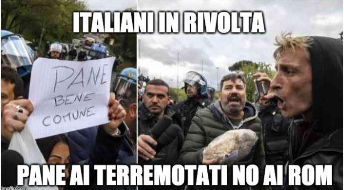Torre Maura, residenti requisiscono pane dei Rom: «Datelo ai terremotati»