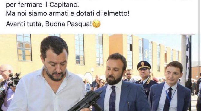 Salvini col mitra, Saviano vuole denunciare