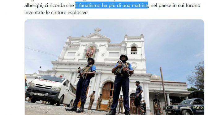 SriLanka, Lerner delira anche sulle stragi islamiche di Pasqua