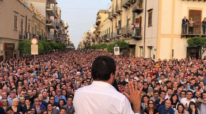 Salvini a Palermo, immagini incredibili – FOTO