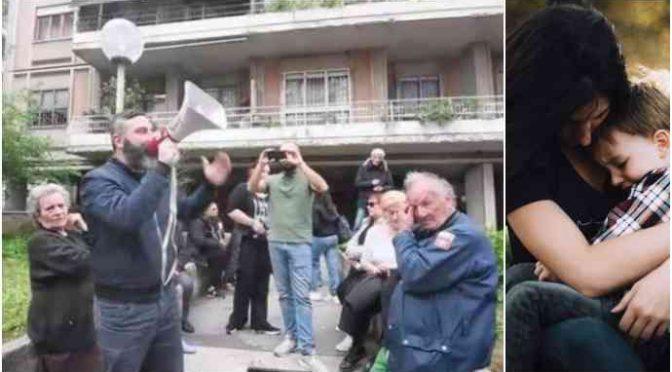 Bimba italiana cacciata da casa popolare per darla ai Rom, rivolta – VIDEO