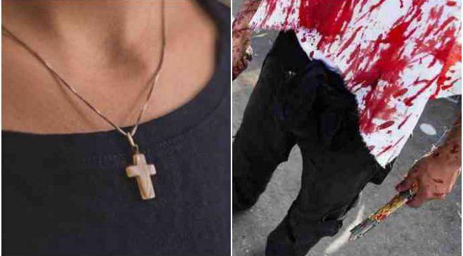 """Lo sgozza perché indossa croce: """"Italiano cattolico di m…"""""""