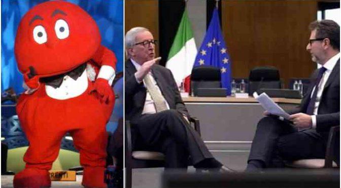Il Gabibbo batte Juncker e Fazio