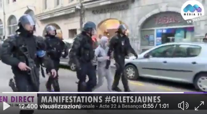 Francia, uomini Macron arrestano dissidente di 13 anni – VIDEO