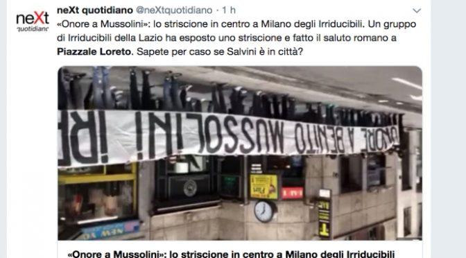 Striscione Lazio, su Twitter minacce a tifosi con foto capovolta