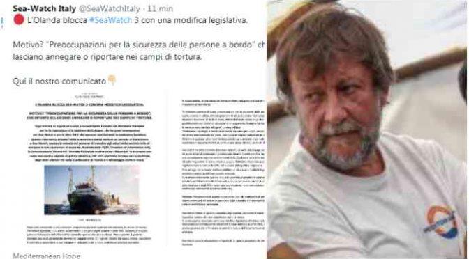 Olanda blocca ong SeaWatch, perché l'Italia non fa lo stesso con Casarini?