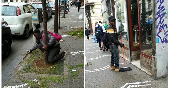 Napoli, negozianti devono pagare il pizzo agli africani per pulire le strade