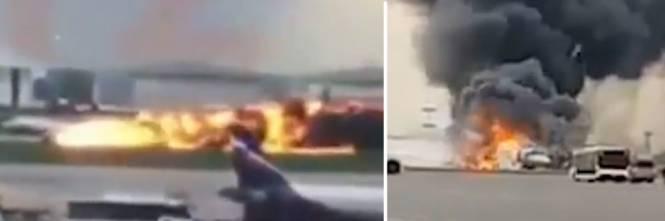 Mosca, aereo atterra in fiamme: 13 morti e decine i feriti – VIDEO