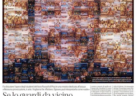 Prof realizzano ritratto Salvini coi morti in mare di Alfano e Minniti